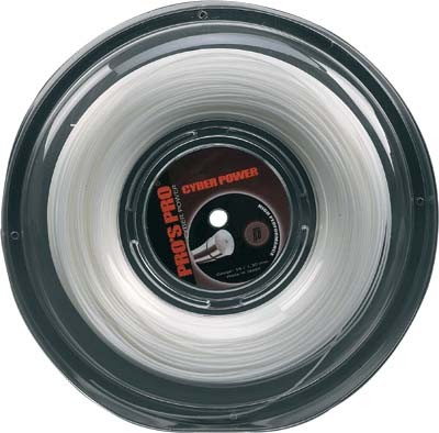 Pro's Pro Tennissaite 200 m Polyester Cyber Power 1,25 mm weiss