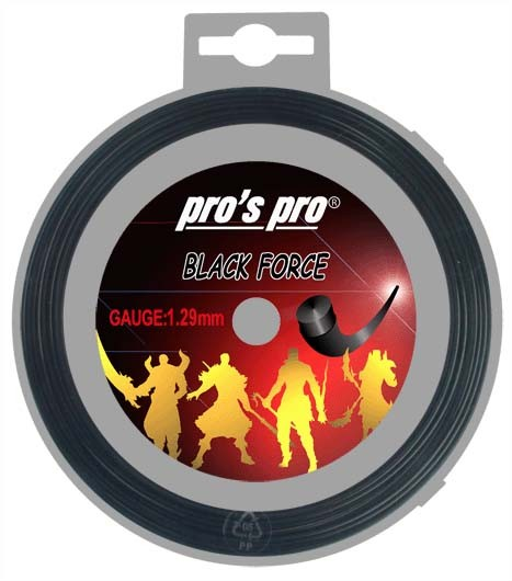 Pro's Pro Deutsche Polyestersaite 12 m Black Force 1,29 mm schwarz