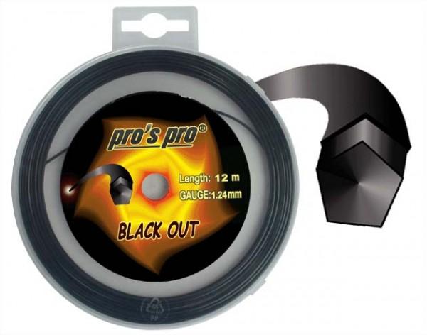Pro's Pro Deutsche Polyestersaite 12 m Blackout 1,24 mm schwarz 5-eckig
