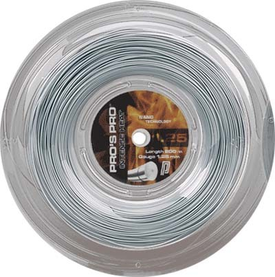Pro's Pro Tennissaite 200 m Polyester Intense Heat 1,25 mm silber