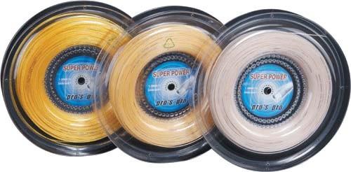Pro's Pro Tennissaite 200 m Synthetik Super Power 1,30 mm weiss