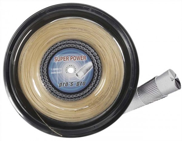 Pro's Pro Tennissaite 200 m Synthetik Super Power 1,30 mm natur