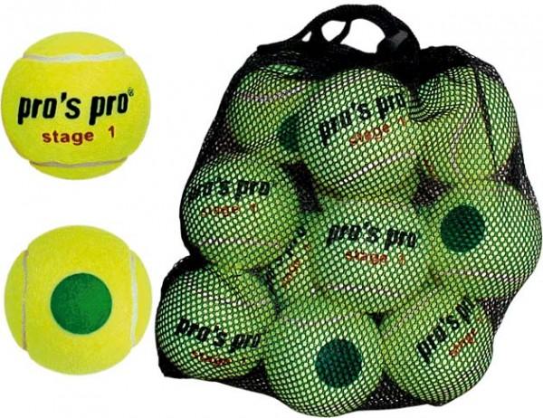 Pros Pro Tennisbälle Stage 1 12er druckvermindert ITF approved