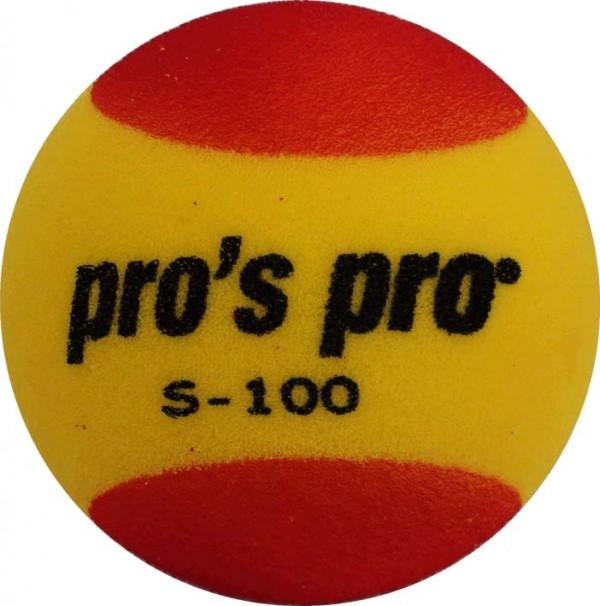Pro's Pro Kinder Tennisball Schaumstoff S-100 gelb-rot 90mm
