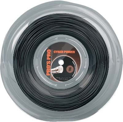 Pro's Pro Tennissaite 200 m Polyester Cyber Power schwarz 1,30 mm