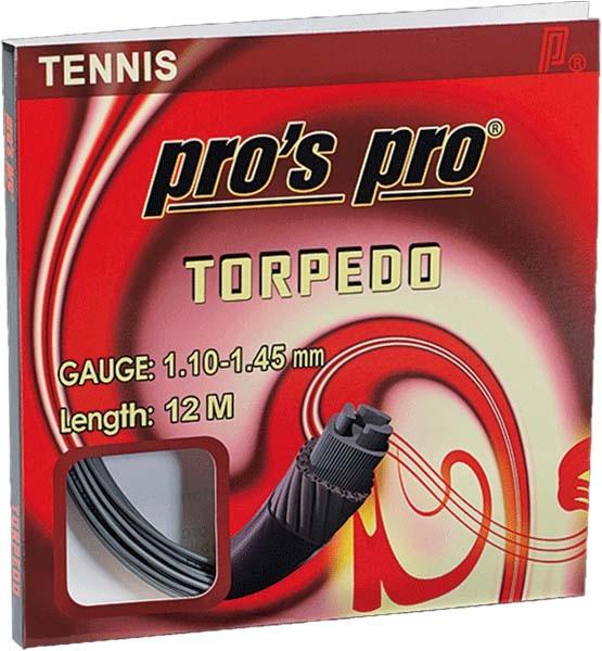 Pro's Pro Tennissaite 12 m Synthetik Torpedo anthrazit rechteckig