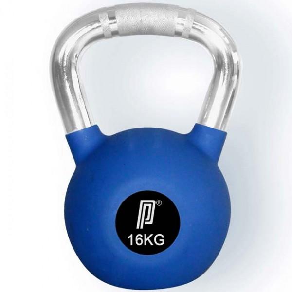 Pros Pro Rubber Kettlebell 16 kg blau Gummibeschichtung