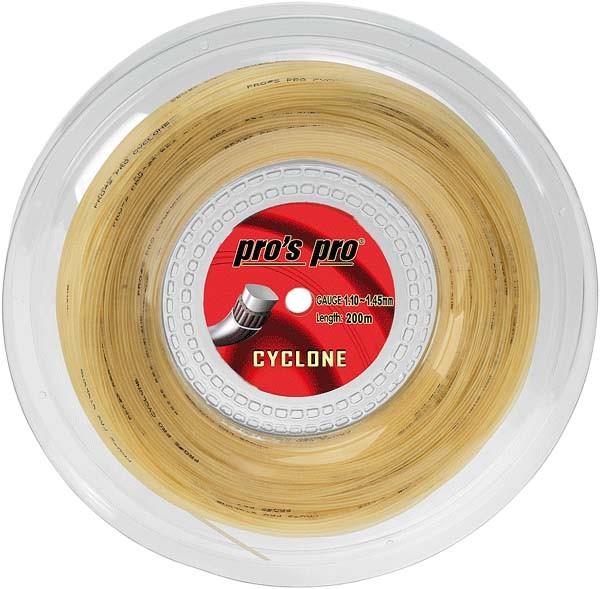 Pro's Pro Tennissaite 200 m Synthetik Cyclone natur rechteckig