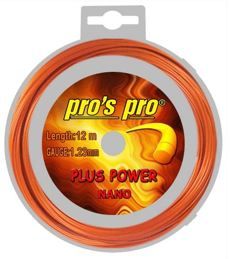 Pro's Pro Deutsche Polyester Tennissaite Plus Power 1.23 12 m orange