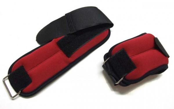 Pro's Pro Gewichtsmanschetten  2 x 0,5 kg rot/schwarz Handgelenk und Fußgelenk
