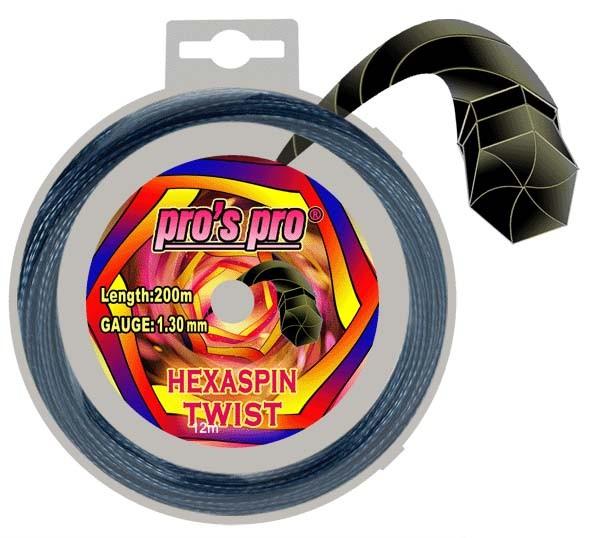 Pros Pro Deutsche Polyester Tennissaite Hexaspin Twist 1.25 12 Meter dunkelblau