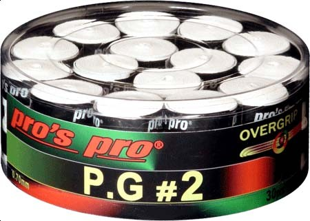 Pro's Pro P.G. 2 Griffband griffig tacky perforiert 0,7 mm 30er Box weiss