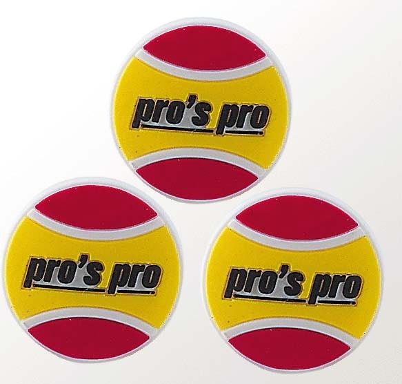Pros Pro Vibra Ball 3er gelb/rot