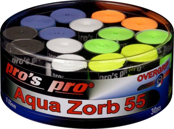 Pro's Pro Overgrips 30er Box Aqua Zorb 55 bunt trocken