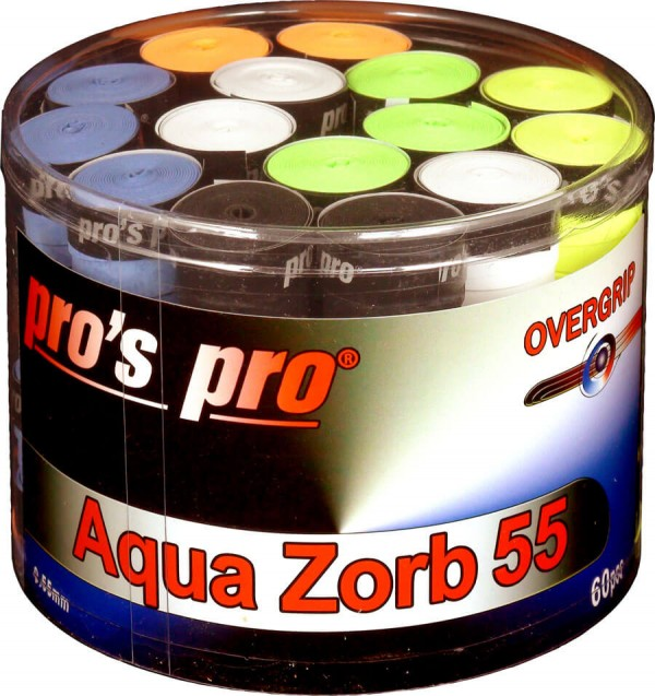 Pro's Pro Overgrips 60er Aqua Zorb 55 0,55 mm sortiert trocken