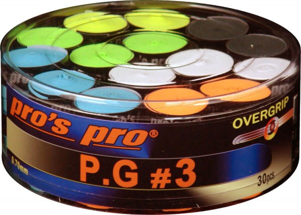 Pro's Pro P.G. 3 griffband griffig tacky perforiert 0,7 mm 60er Box sortiert
