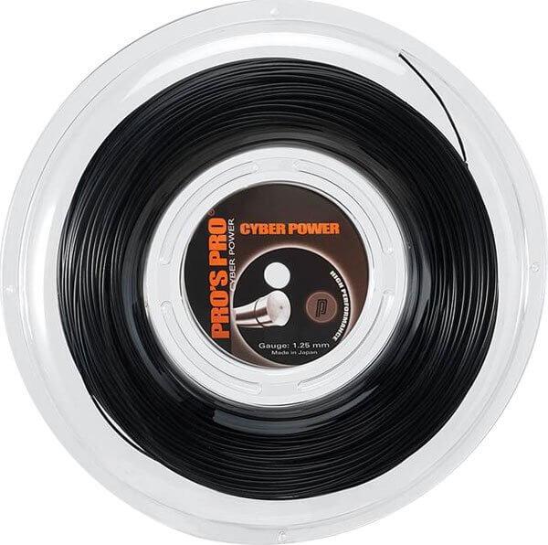 Pro's Pro Tennissaite 200 m Polyester Cyber Power schwarz 1,25 mm