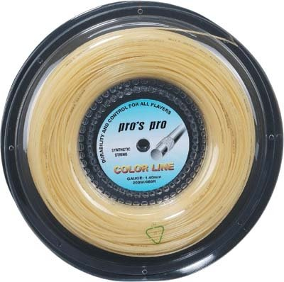Pro's Pro Tennissaite 200 m Synthetik Color Line weiss1,40 mm