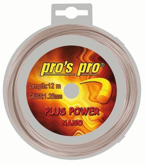 Pros Pro Deutsche Polyester Tennissaite Plus Power 12 m 1,28 mm natur