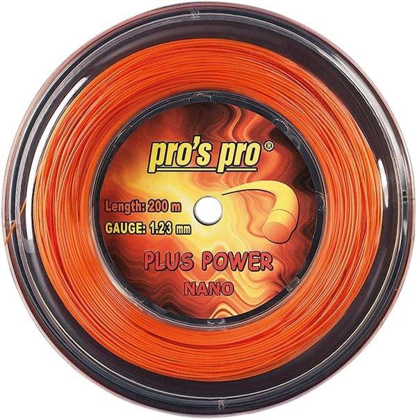 Pro's Pro 200-m-Tennissaite Plus Power 1,23 mm orange Deutsche Polyestersaite