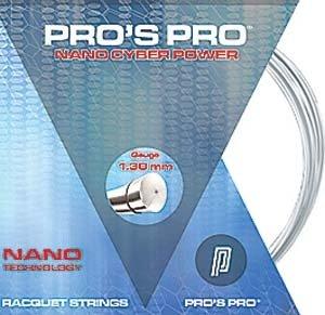 Pro's Pro Tennissaite 12 m Polyester Nano Cyber Power silber 1,30 mm