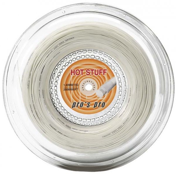 Pro's Pro Tennissaite 200 m Synthetik Hot Stuff 1,40 mm elfenbein