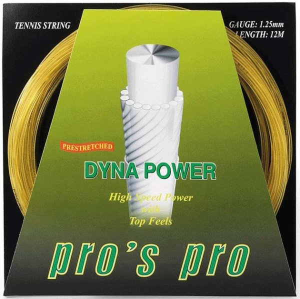 Pro's Pro Tennissaite 12 m Synthetik Dyna Power 1,25 mm natur