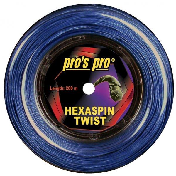 Pros Pro Deutsche Polyester Tennissaite Hexaspin Twist 1.25 200 Meter signal-blau