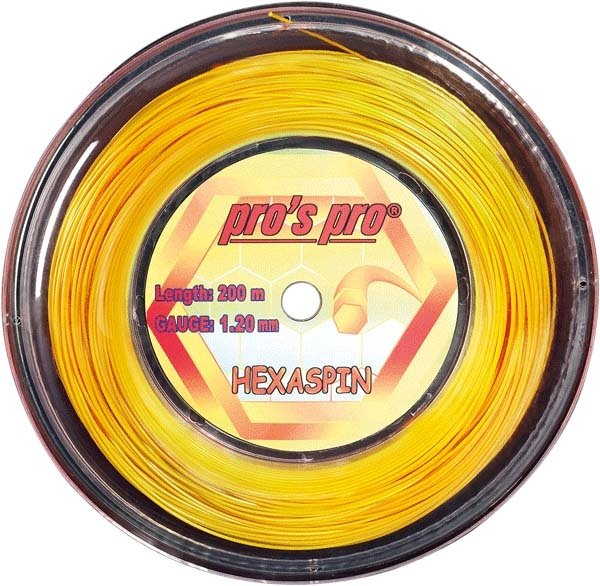 Pro's Pro 200-m-Tennissaite Hexaspin 1,30 mm 6-kant Deutsche Polyestersaite gold