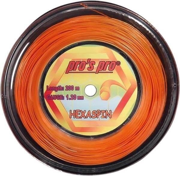 Pro's Pro Deutsche Polyestersaite Hexaspin 200 m 1,20 mm orange 6-eckig
