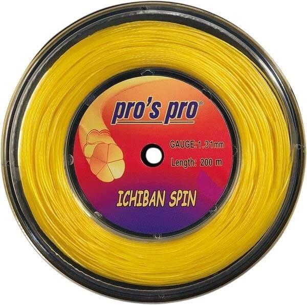Pro's Pro 200-m-Tennissaite Ichiban Spin gold 1,31 mm profiliert Deutsche Polyestersaite