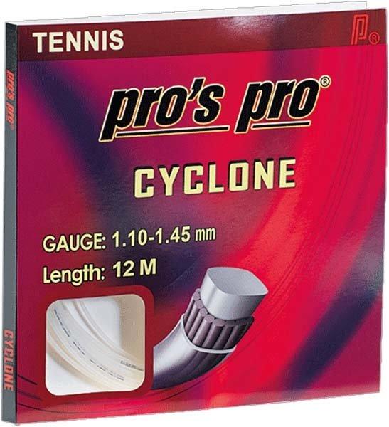 Pro's Pro Tennissaite 12 m Synthetik Cyclone weiss rechteckig