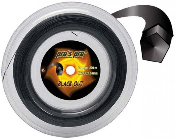 Pro's Pro Deutsche Polyestersaite Blackout 12 m 1,28 mm schwarz 5-eckig