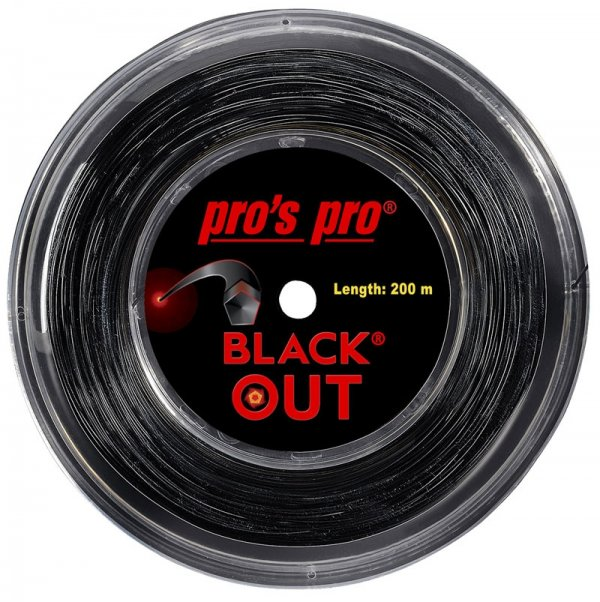 Pro's Pro Deutsche Polyestersaite Blackout 200 m 1,24 mm schwarz 5-kant