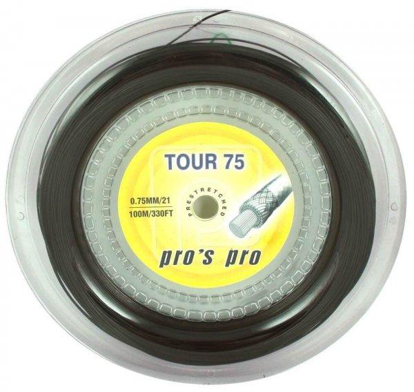 Pro's Pro Badmintonsaite Tour 75  100 m schwarz
