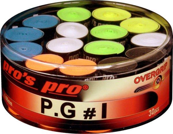 Pro's Pro Overgrips 30er Box P.G.1 0,60 mm sortiert klebrig