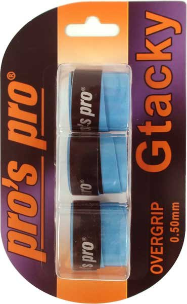 Pro's Pro Gtacky Griffband 0,5 mm Saugfaehig Vibrationsdaempfend 3er blau
