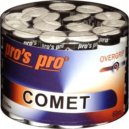 Pro's Pro Overgrips 60er Comet Grip 0,70 mm weiß klebrig