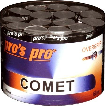 Pro's Pro Overgrips 60er Comet Grip 0,70 mm schwarz klebrig