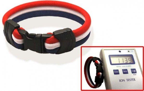 Pro's Pro Ionen Power Armband rot/weiß/blau Medium