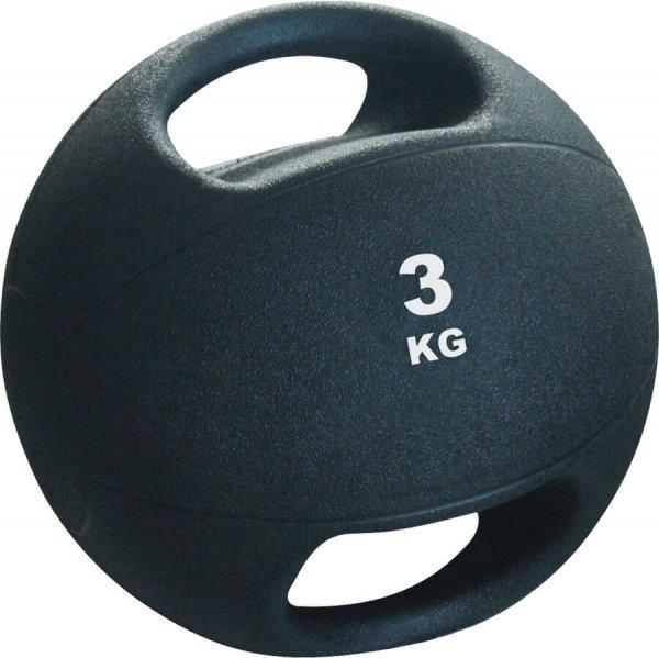 Pro's Pro Medizinball mit Griffen 3 kg schwarz