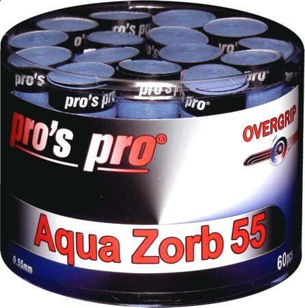 Pro's Pro Overgrips 60er Aqua Zorb-55 0,55 mm blau trocken