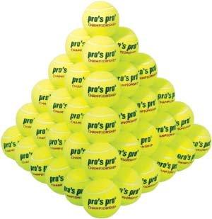 Pros Pro Tennisbälle Championship 60er gelb/weiß drucklos
