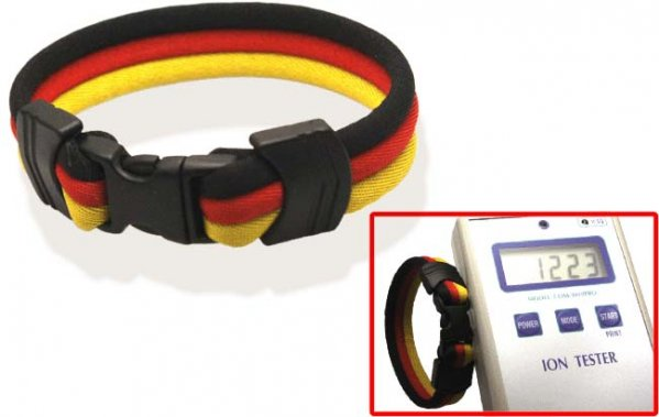 Pro's Pro Ionen Power Armband schwarz/rot/gelb Medium