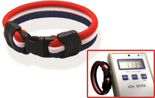 Pro's Pro Ionen Power Armband rot/weiß/blau Small