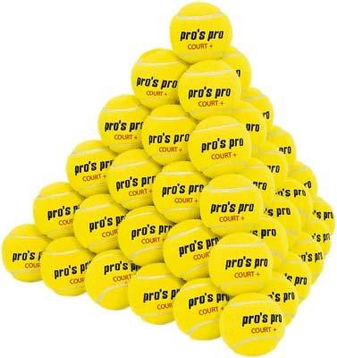 Pros Pro Tennisbälle Court+ 60er gelb drucklos
