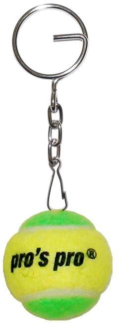 Pro's Pro Schlüsselanhänger Tennisball gelb/grün Filz