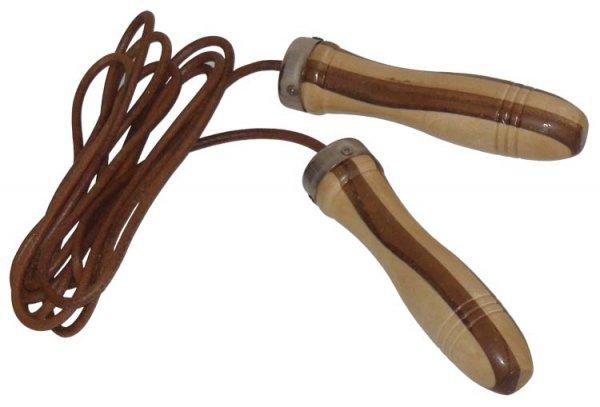 Pro's Pro Leder-Springseil Bi-Color braun, Kugellager