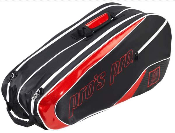 Pro's Pro 8-Racketbag schwarz-rot