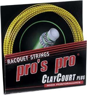 Pro's Pro Tennissaite 12 m Synthetik Clay Court Plus 1,29 mm honig-schwarz